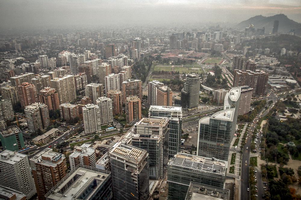 Vista Aereas de Santiago.