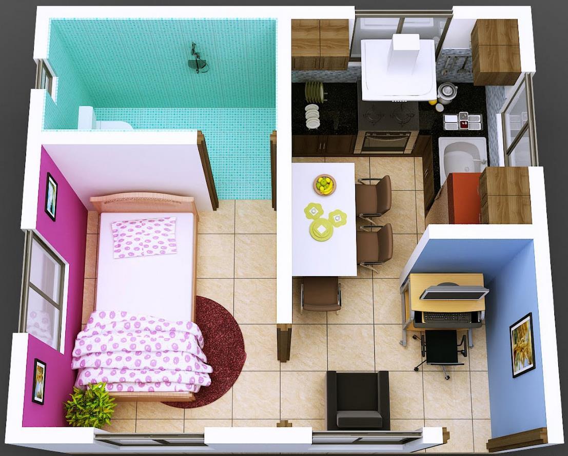 Plano-de-departamento-pequeño-de-1-dormitorio