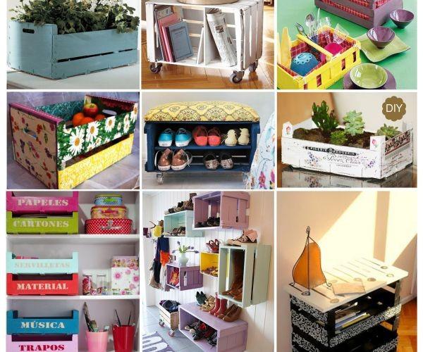 Hogar y jardin ideas para decorar huacales for Caja de colores jardin infantil