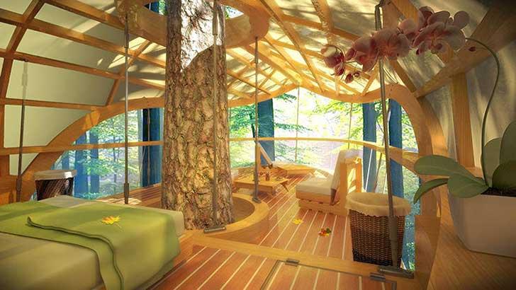 Estas incre bles habitaciones de hotel colgantes permiten for Hotel con casas colgadas de los arboles