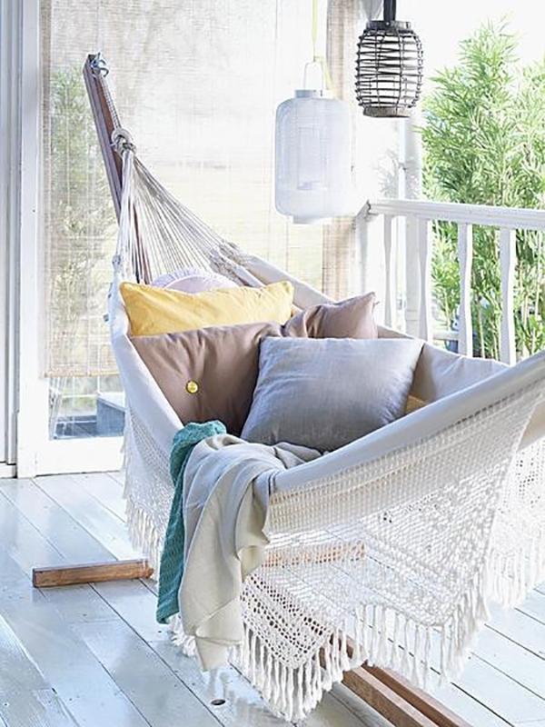 Dale un toque especial a tu terraza o jard n con una for Amazon hamacas jardin