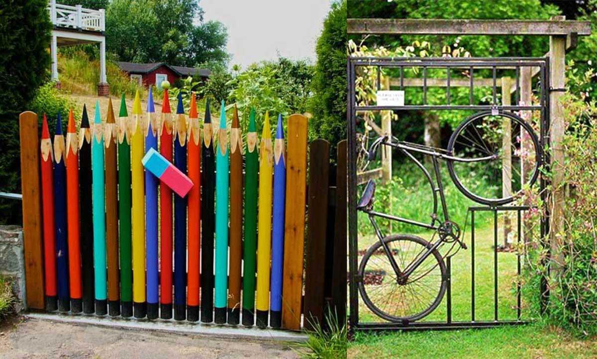 20 maravillosas puertas de jard n que parecen sacadas de for Puertas de jardin de madera