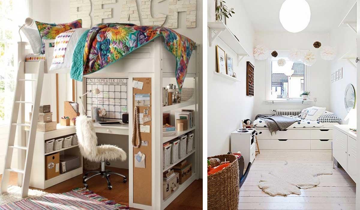 Vives en una habitaci n peque a 17 ideas que la for Como organizar mi habitacion