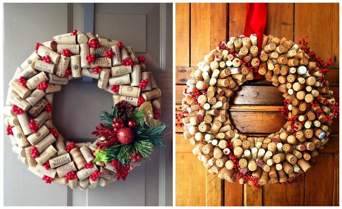 Adornos De Navidad Para Decorar La Casa. Simple Guirnaldas Y Coronas ...