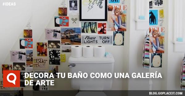 Decora tu baño como una galería de arte   Goplaceit