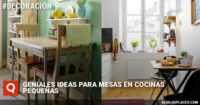 Geniales ideas para mesas en cocinas peque as goplaceit for Mesas y sillas para cocinas pequenas