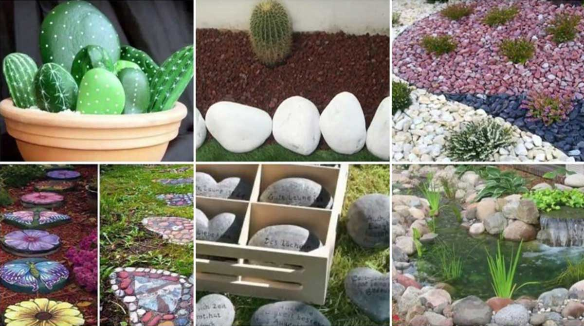 16 hermosas ideas para decorar tu jard n con piedras for Ideas de decoracion de jardines