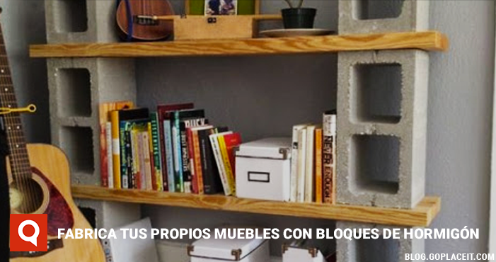 Fabrica tus propios muebles con bloques de hormig n - Muebles con ladrillos ...